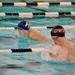 DWM Boys Varsity Swimming and Diving falls to Hopkins 104 – 80