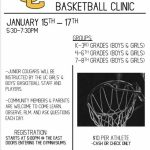 Basketball Clinic January 15th-17th