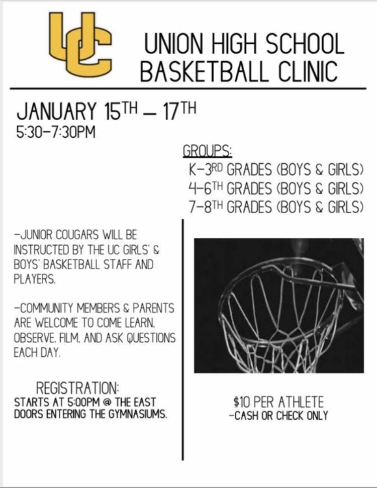 Basketball Clinic January 15th-17th