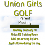Girls Golf to Hold Parent Information Meeting