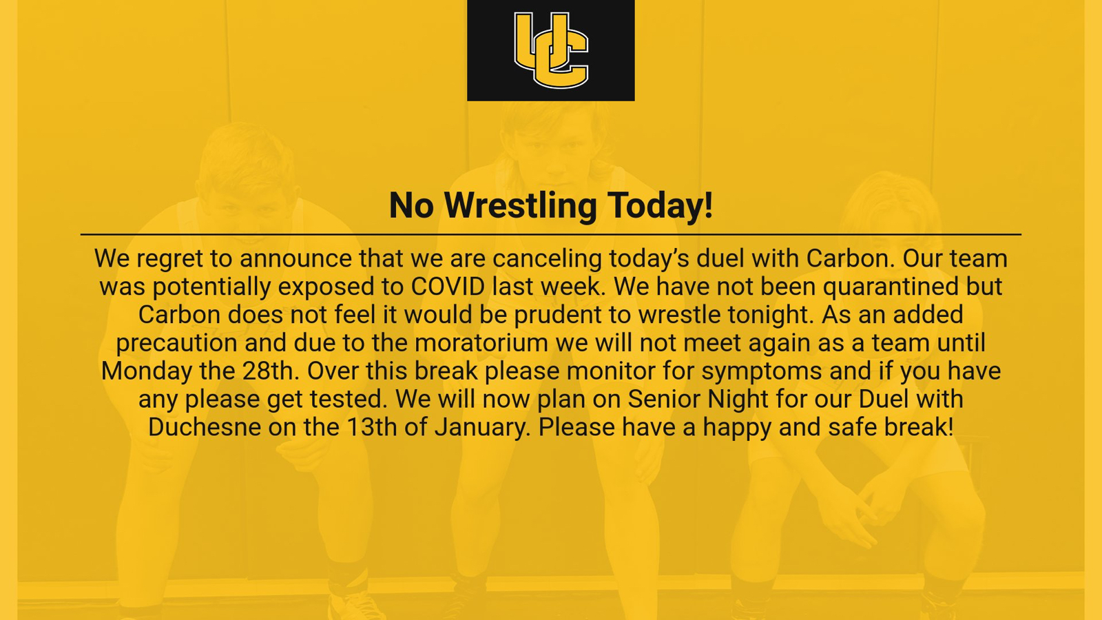 No Wrestling Today!