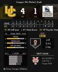 Cougars win pitcher's duel!