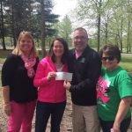 LTB presented the check for Pink Out