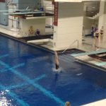 Chelle Watkins Competes in State Diving Prelims