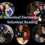 Eastview Girls Basketball Volunteer Reading at Greenleaf Elementary