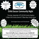 EV Soccer Community Night 9.18.14