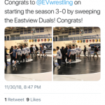 Wrestlers earn 3 Wins at the Eastview Duals!