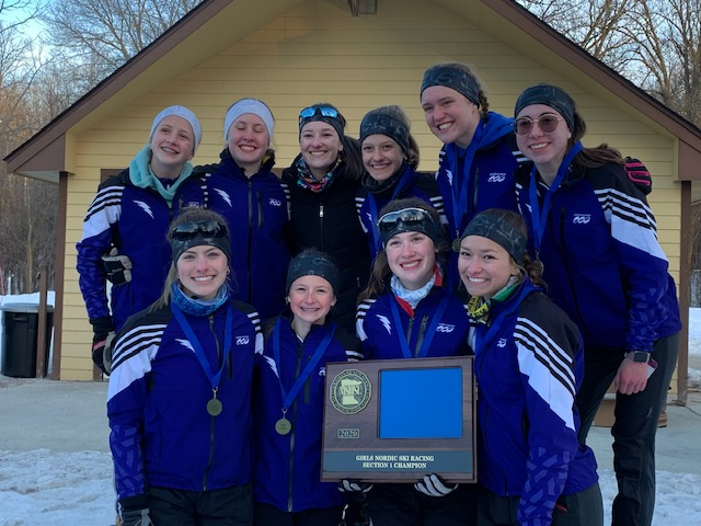 Girls Nordic Ski is Section Champs and STATEBOUND!