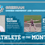 And the Gresham Modern Dentistry Athlete of the Month is….