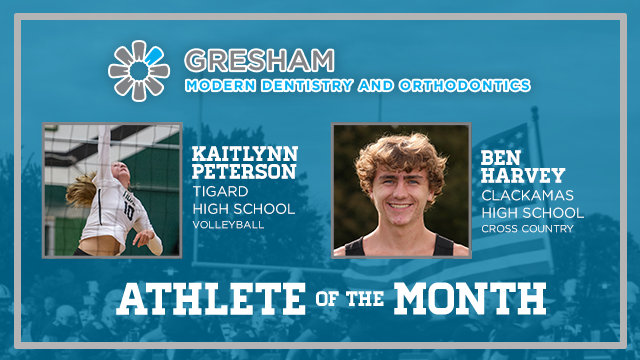 And the Gresham Modern Dentistry & Orthodontics October Athlete of the Month is….