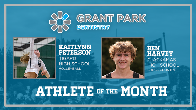 And the Grant Park Dentistry October Athlete of the Month is….