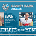 And the Grant Park Dentistry November Athlete of the Month is….
