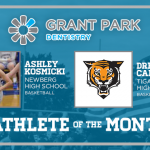 Time to recognize the Grant Park Dentistry December Athletes of the month…
