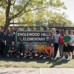 Football team pays a visit to Englewood Hills Elementary