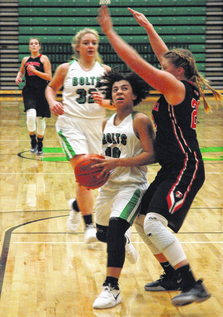 Tecumseh pierces Lady Bolts' defense