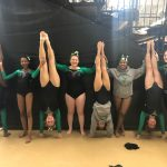Girls Gymnastics Team Compete at Districts