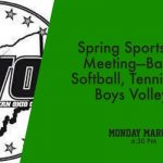 Spring Sports HS Parent Meeting – March 4