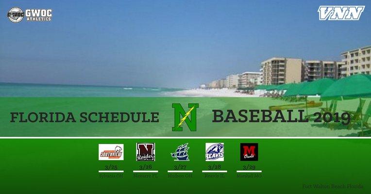 2019 Florida Baseball Schedule