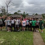 Northmont Football Team Helps with Community Cleanup