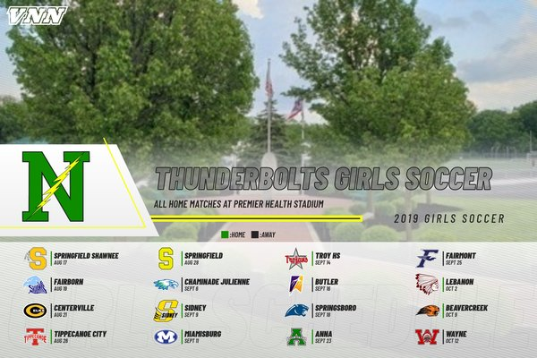 Girls 2019 Soccer Schedule