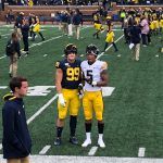 Newburg and Jacobs at Michigan/Iowa Game