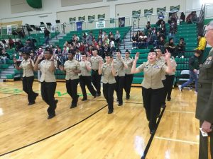 ROTC Halftime Performance