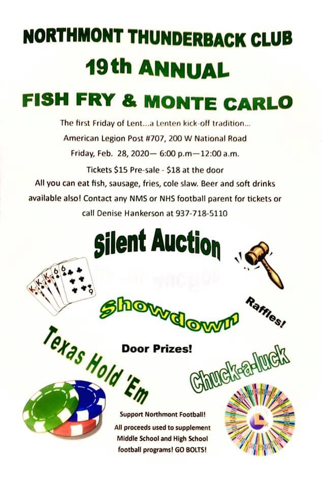 2020 FOOTBALL FISH FRY / FEBRUARY 28th
