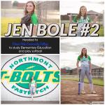 NHS Softball Senior Shoutout: Jen Bole #2