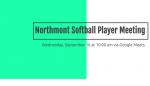 NHS Softball Player Meeting on 9/16
