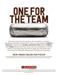 Burritos for Birdies at Englewood Chipotle on September 27th