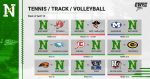 Schedule Week April 12 – Tennis/Track/VB