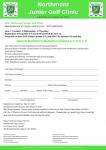 Northmont Junior Golf Clinic June 1st-3rd