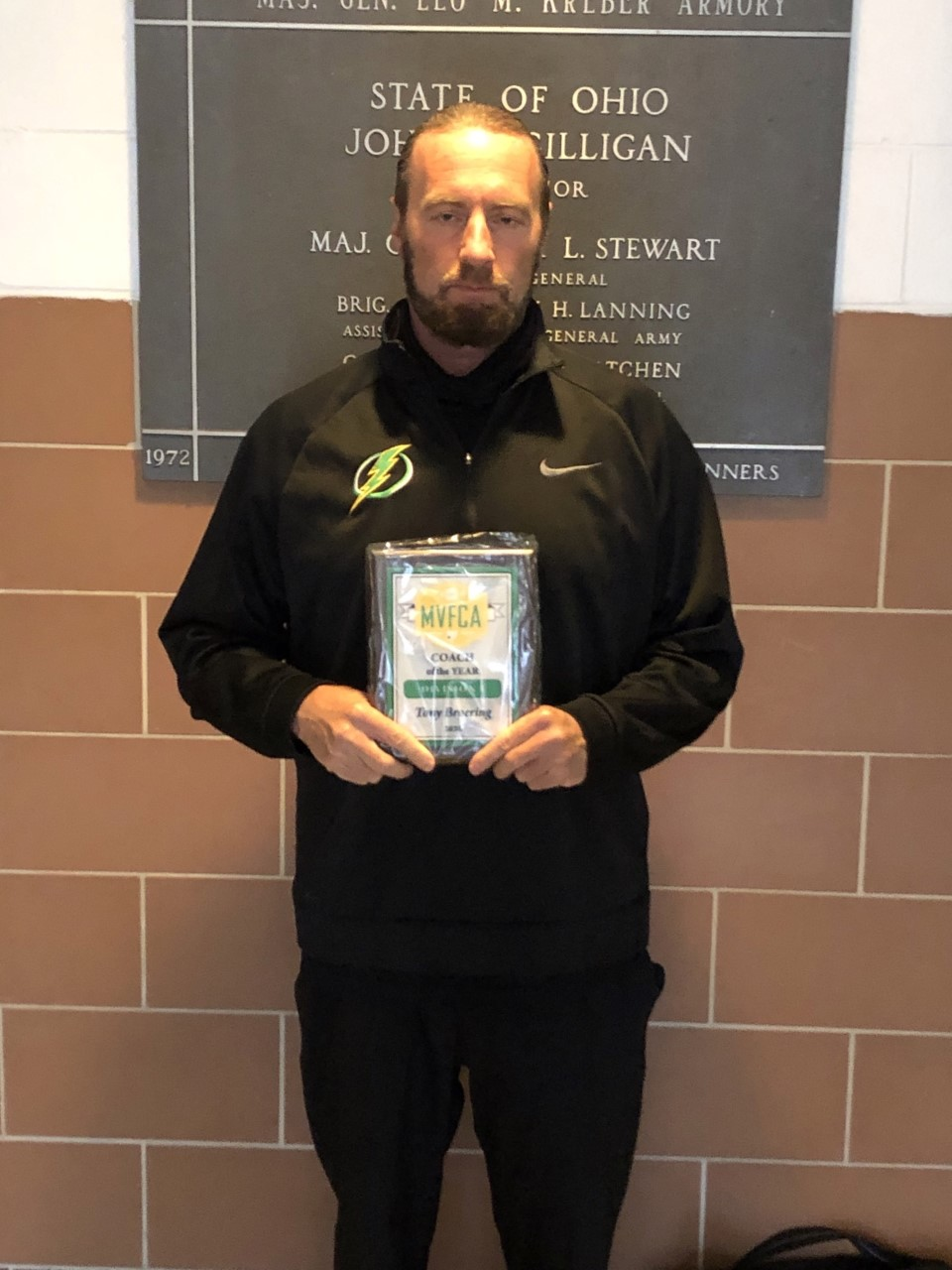 Coach Broering selected as MVFCA Div.1 Coach of the Year