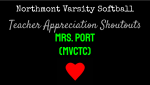 NHS Varsity Softball Teacher Appreciation Shoutouts: Mrs. Port (MVCTC)
