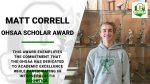 OHSAA Scholar Award – Matt Correll