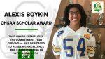 OHSAA Scholar Award – Alexis Boykin