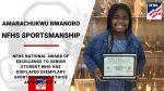 NFHS Sportsmanship Award – Amarachukwu Nwanoro