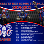 Carver Football Schedule 2014-2015
