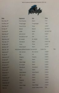 Boys and Girls Basketball Schedules