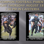 Scorpion Football Parent Night