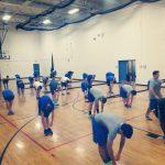 Football, baseball & others train together