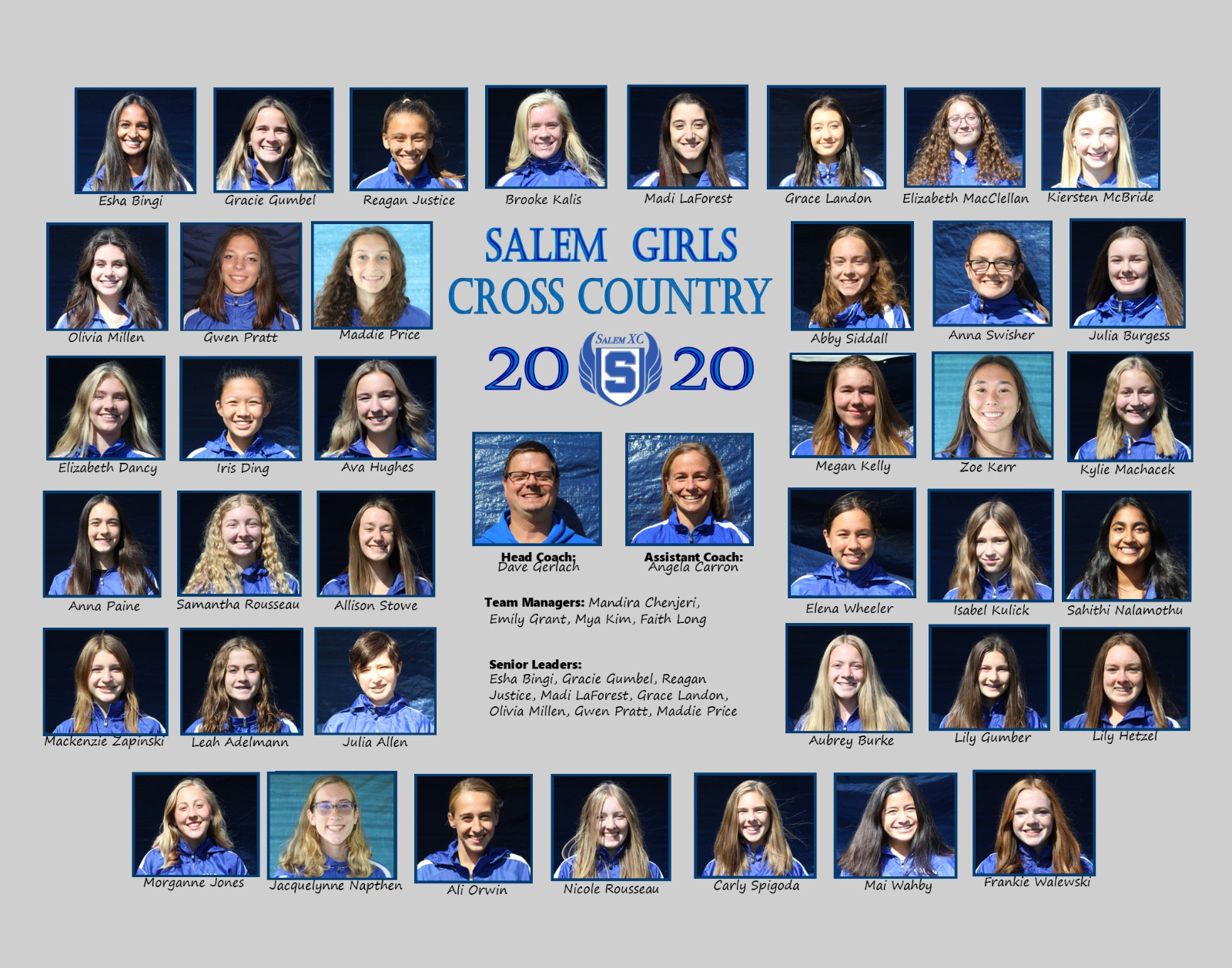 Salem Girls XC Historical Team Photos (1995 – Present)