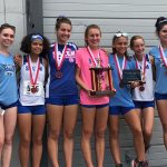 Girls XC overcomes tough conditions to win Holly Invitational