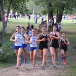 "Salem Girls XC ""Drops the Hammer"" in the 2nd Mile to beat Brighton 22pts-36pts"