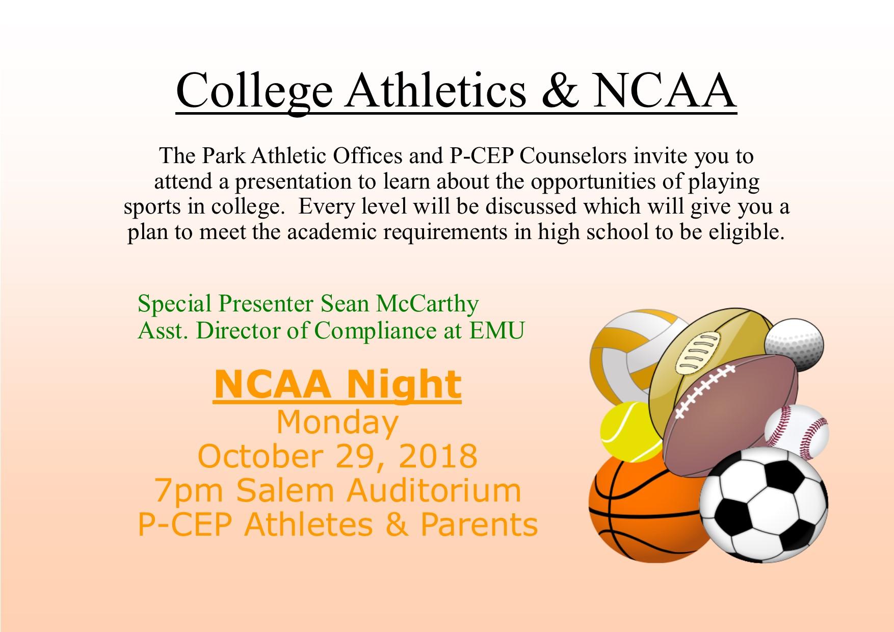 NCAA Night and College Athletics