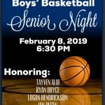 Boys' Basketball Senior Night