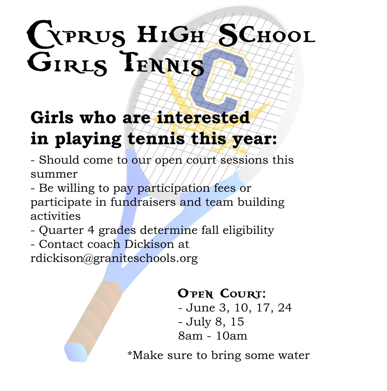 Girls' Tennis Open Court
