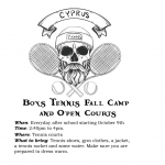 Boys Tennis Fall Camp