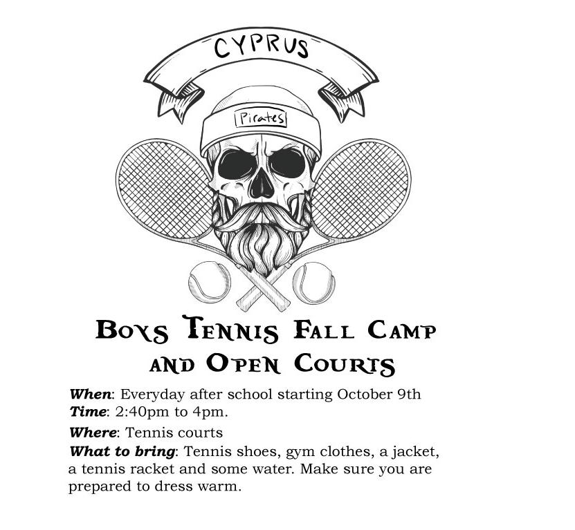 Boys Tennis Fall Camp