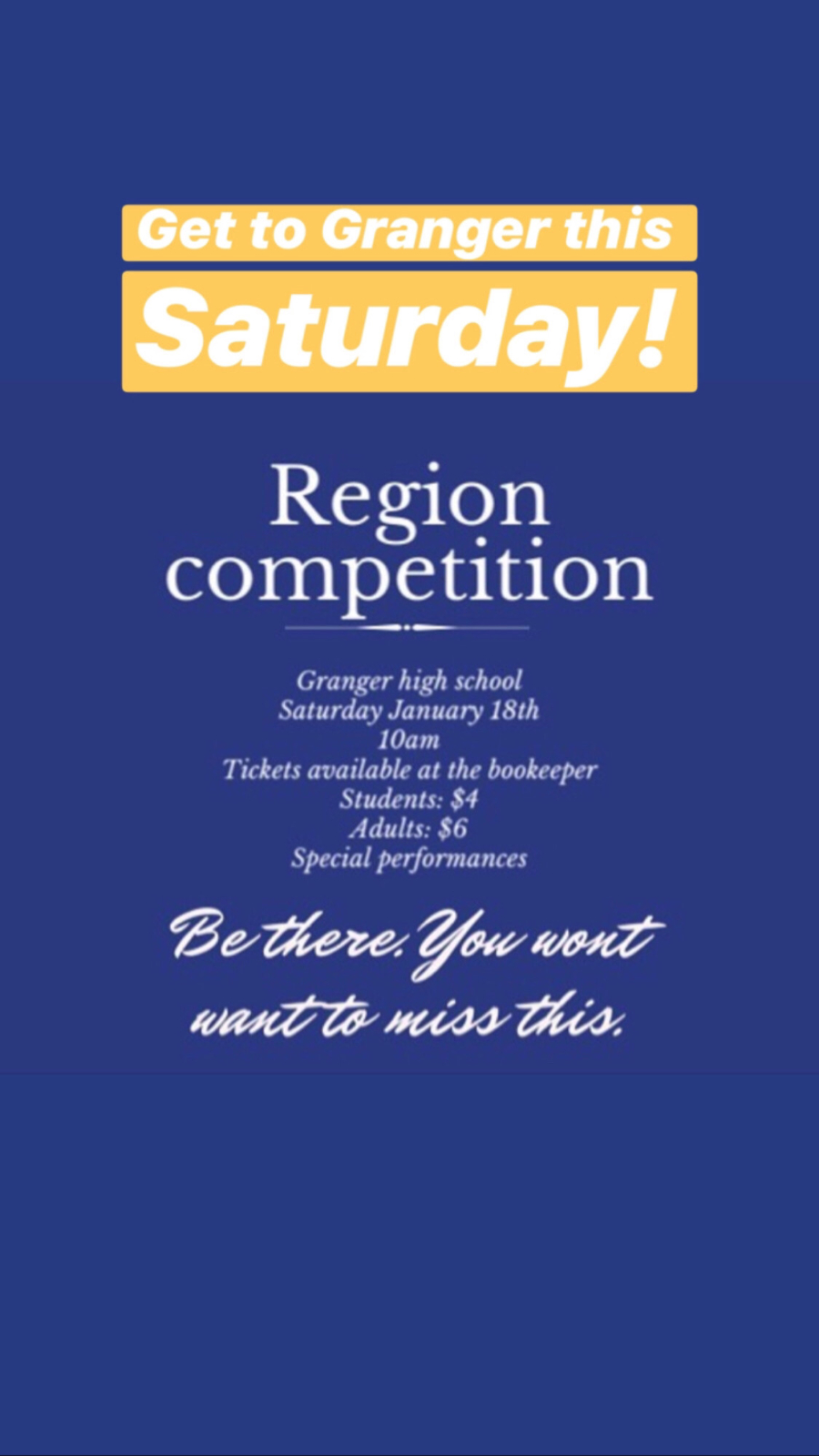 Region Drill on Saturday